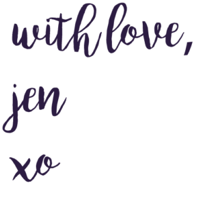 "an image that says ""with love, Jen"" for nutritionbliss.com"