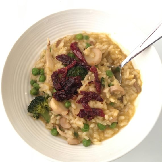 lemon vegetable risotto recipe at nutritionbliss.com