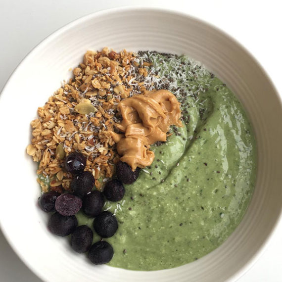 gluten free dairy free breakfast smoothie bowl recipe at nutritionbliss.com