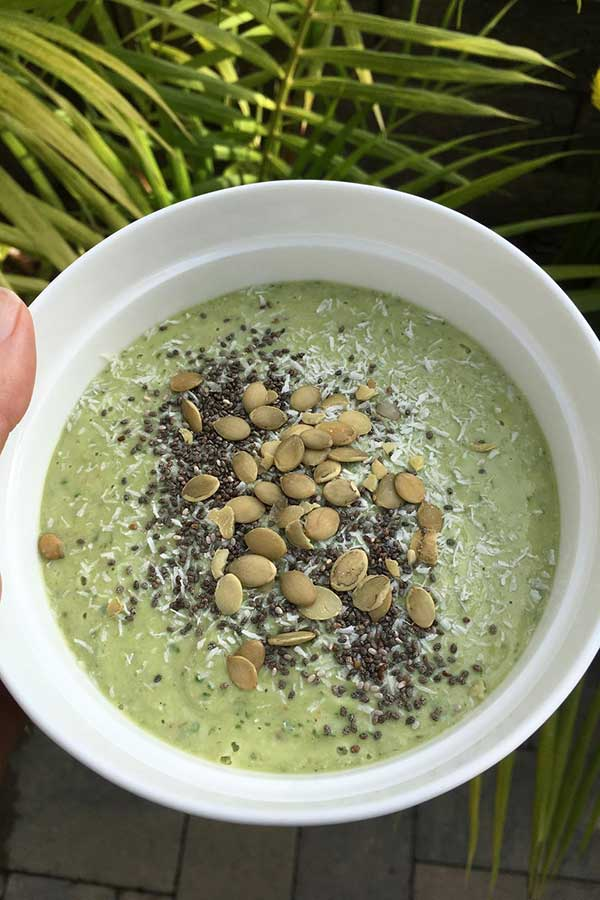 dairy free smoothie breakfast bowl recipe at nutritionbliss.com